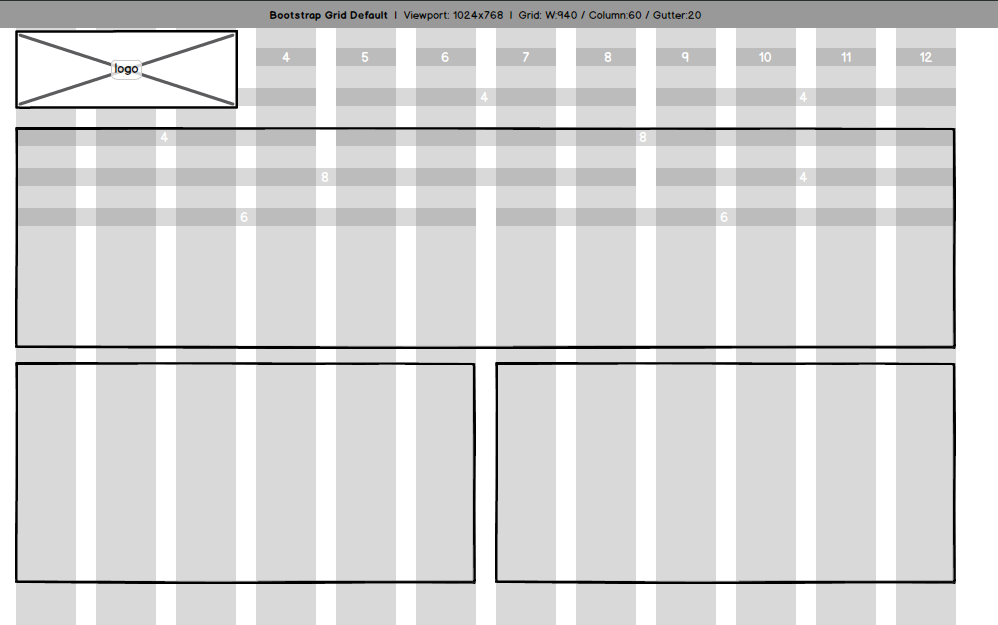 Lay out the page using a grid