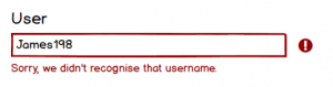 user not found do